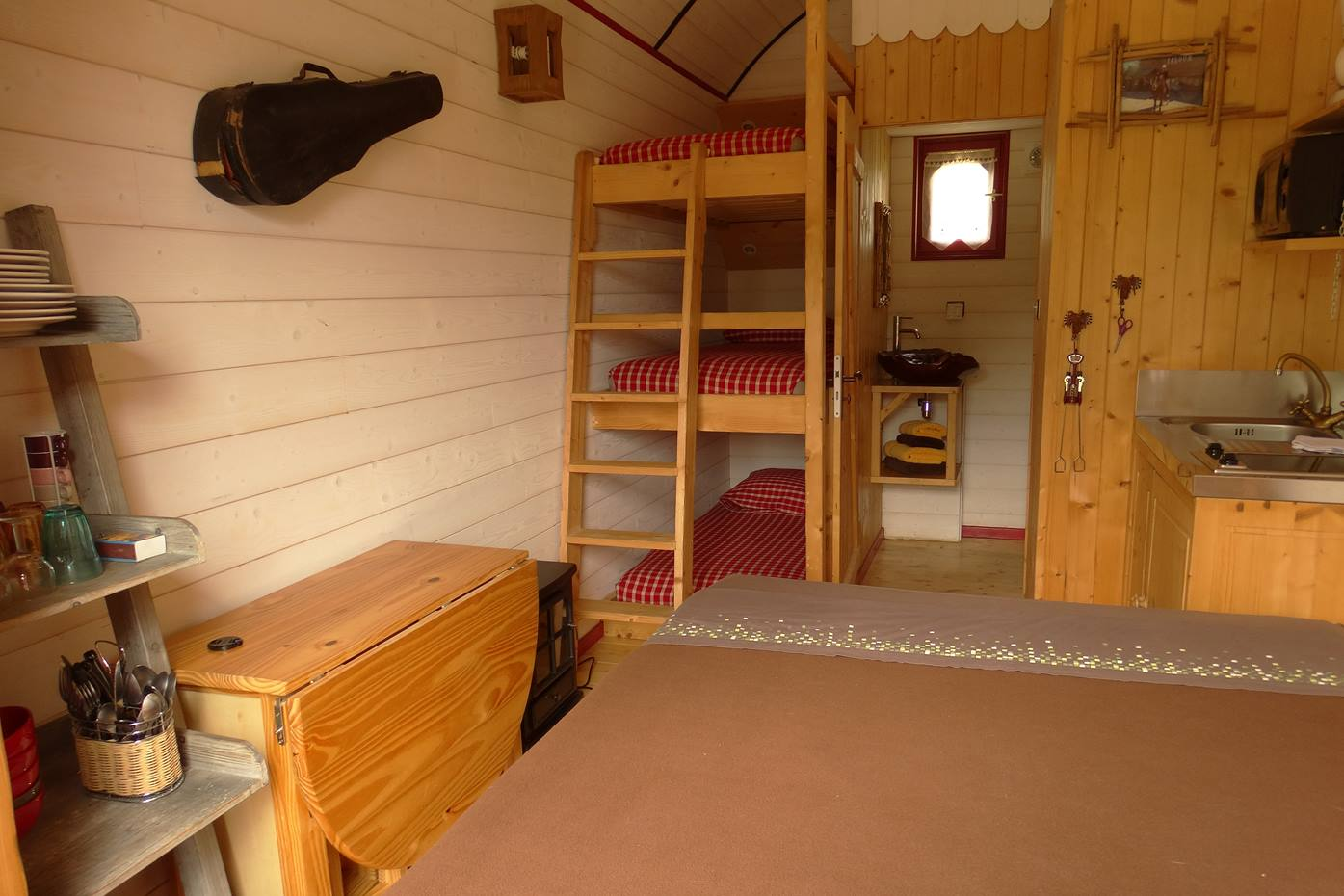 Interior layout of our unusual accommodations